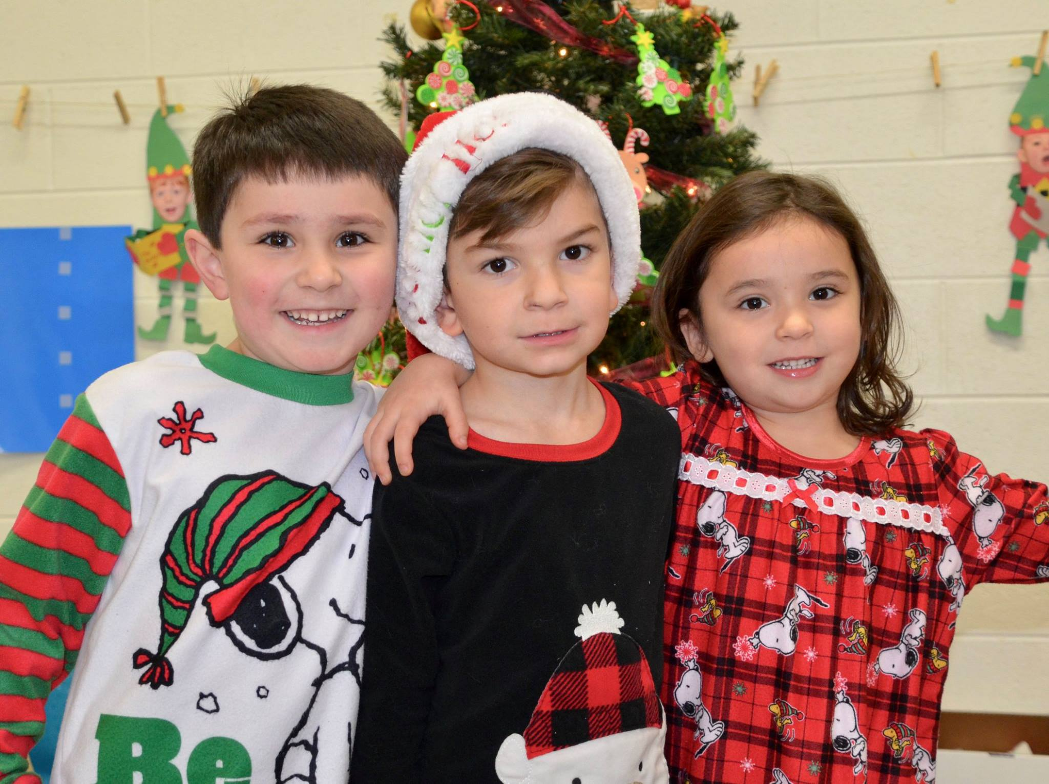 Christmas Pajama Day for our 4 year old class